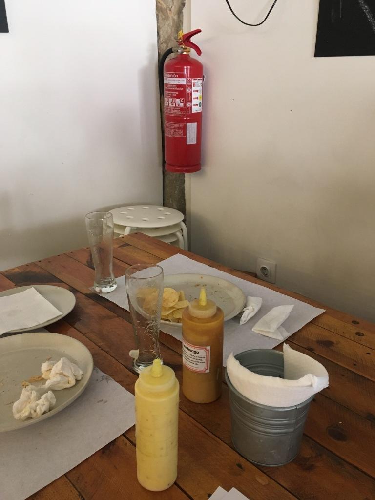 Fire Extinguisher in restaurant