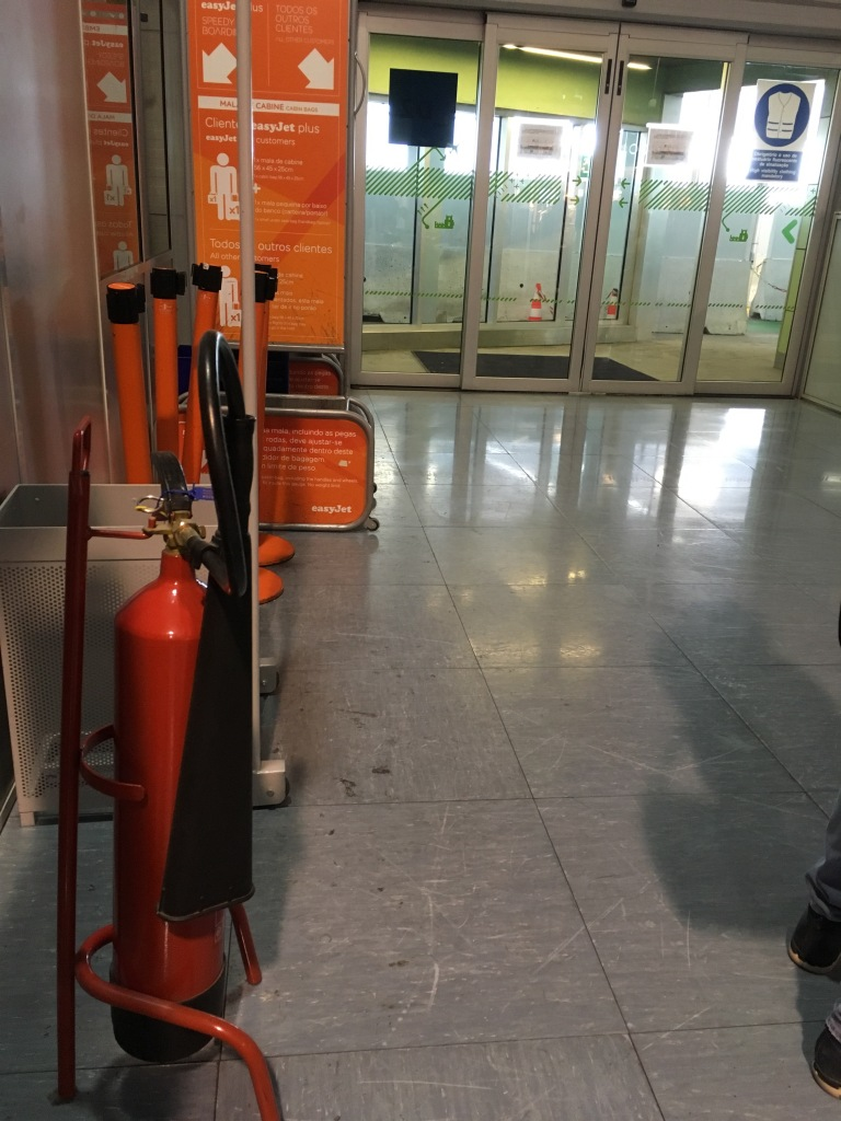 Fire extinguisher, safety at airports, extinguishers check in