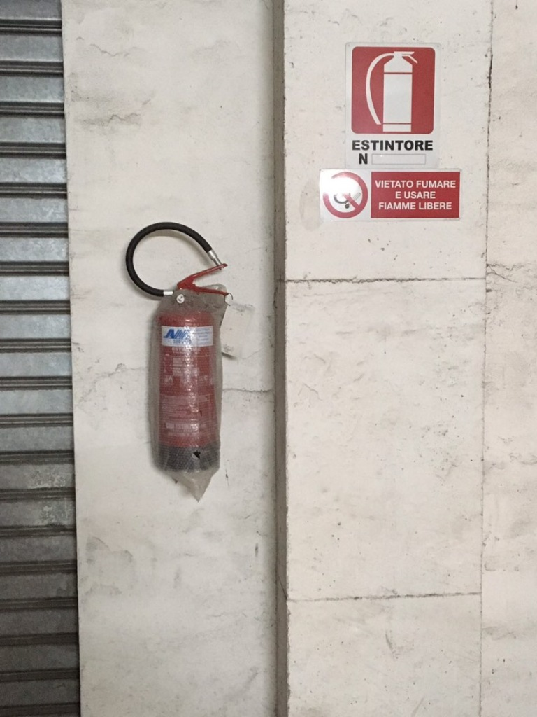 Garage extinguishers, fire safety garage