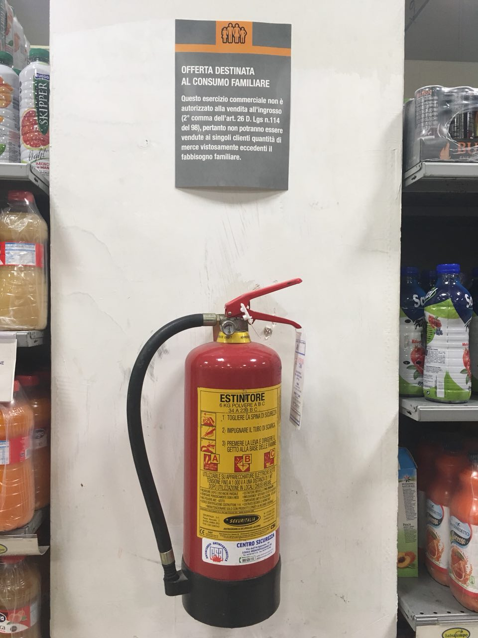 estintore in offerta, extinguisher deal, extinguisher offer