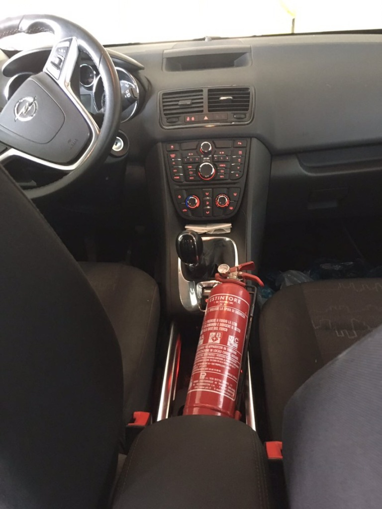 Extinguishers in cars, fire extinguisher car