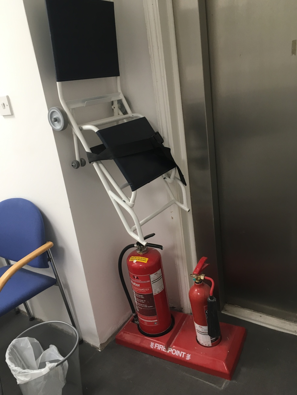 seats, GP, hospital extinguishers
