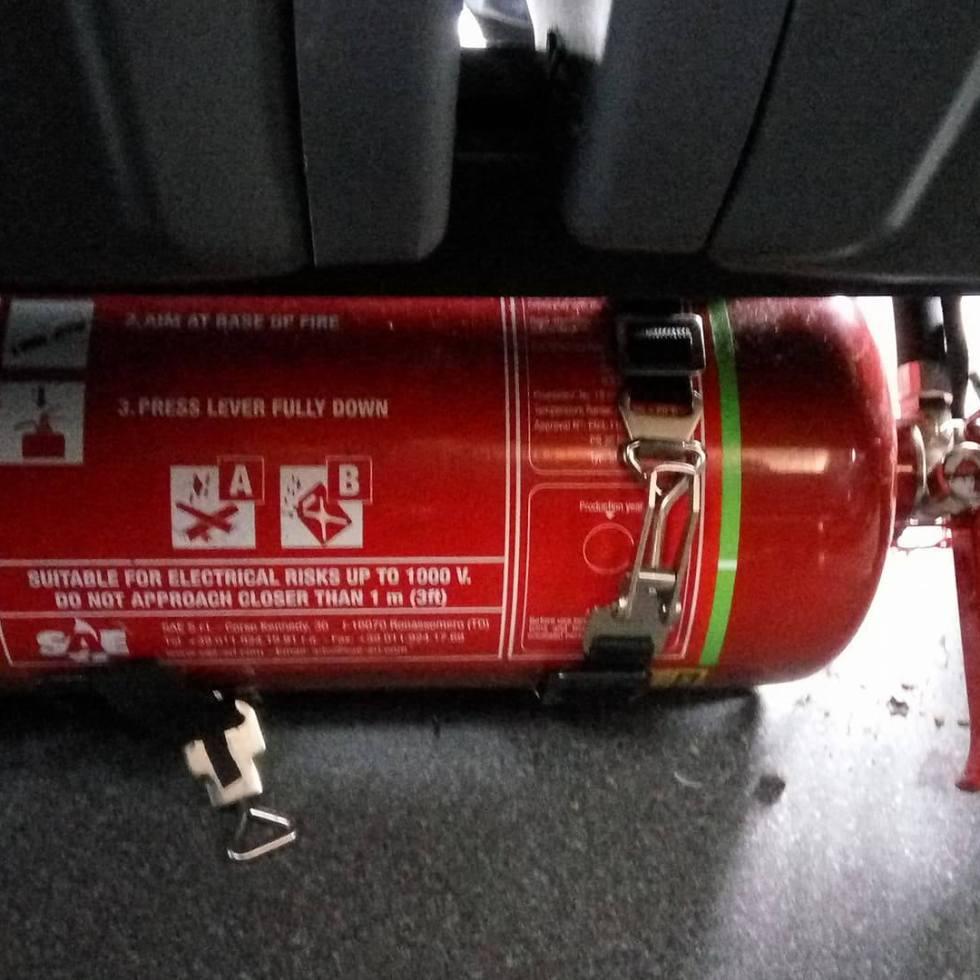 bus fire extinguisher, limerick bus, shannon bus