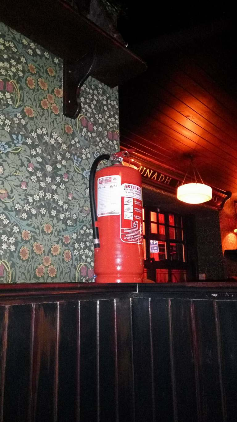 extinguisher in a shelf - Stefania bardi, Limerick Ireland, extinguisher shop, extinguisher pub