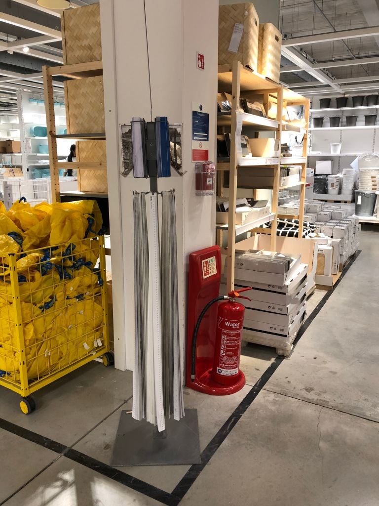 Ikea reading fire extinguisher