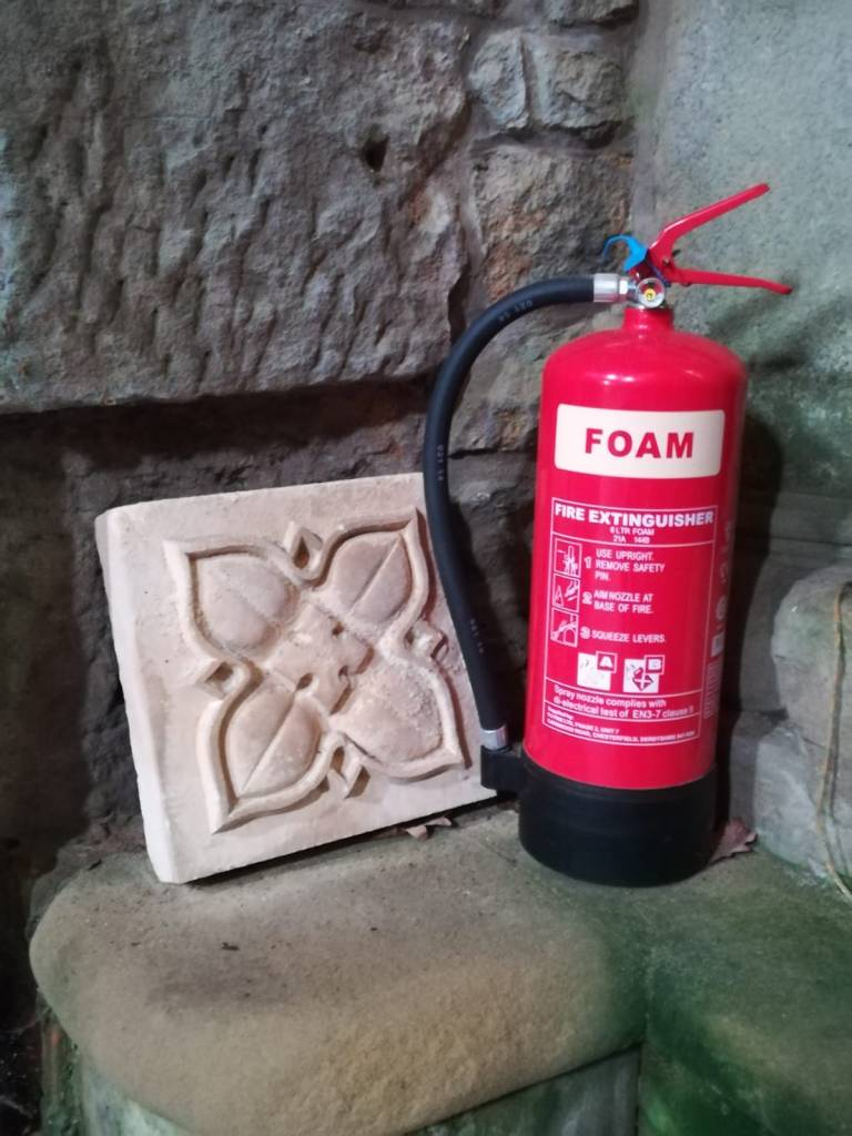 stone extinguisher, museums extinguisher, museums safety, church safety, church extinguisher, fire safety church