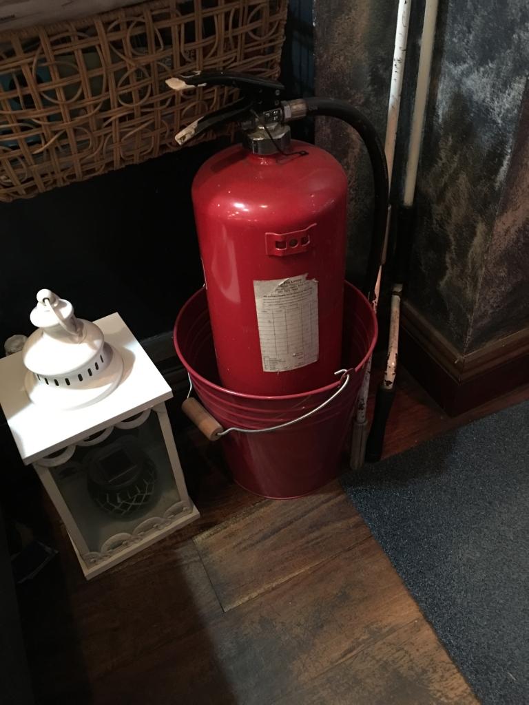 funny extinguishers, bucket fire extinguishers