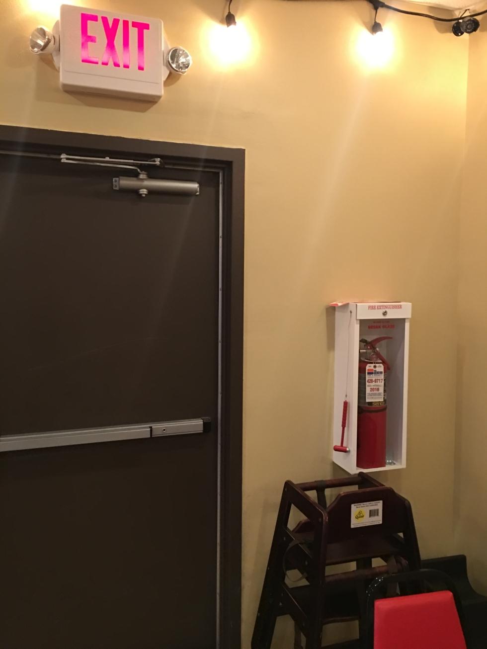 baby extinguisher, extinguisher in restaurants
