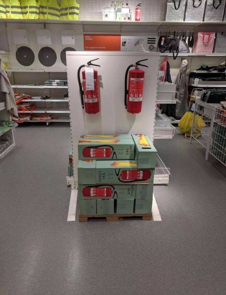 IKEA Borlänge, swedish extinguishers, extinguisher for sales, ikea extinguisher